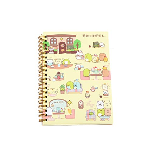 Creative Notebook Spiral Coil Notebook Diary Schedule Office School Supplies Kids Notebook (Color : E, Size : -