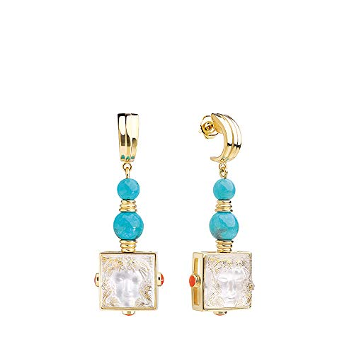 Lalique Crystal Arethuse Earrings Clear & Vermeil - Pin Clasp System #10389400
