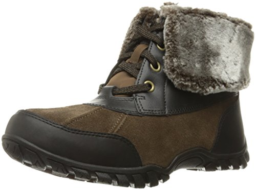 Easy Spirit Women's Nuria Snow Boot, Medium Brown/Multi Suede, 8.5 M US (Multi Footwear Brown Suede)