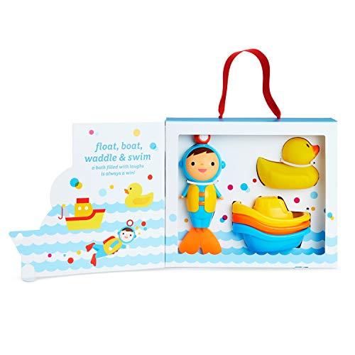41nQLYmdASL - Munchkin Baby's First Bath, 3 Piece Bath Toy Gift Set, Bath Gift Set