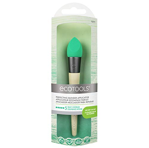 - EcoTools Perfecting Blender Applicator, Foam Applicator Brush for Use Wet or Dry, Natural Latex, Recycled Aluminum Ferrules, Recycled Packaging Material