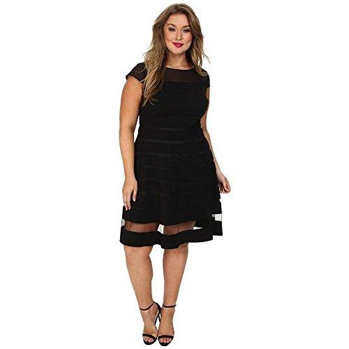グレートオークセージ接続詞(アドリアナ パペル) Adrianna Papell レディース ワンピース?ドレス ワンピース Plus Size Gradiated Chiffon Bands Dress [並行輸入品]