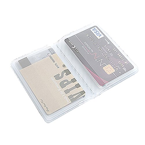 10 Page 20 Card Plastic Wallet Insert for Bifold Business Credit Card Holds