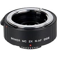Bower 2x Teleconverter Lens (4 Element) for Nikon D7200 D7100 D7000 D5600 D5500 D5300 D5200 D5100 D5000 D3300 D3200 D3100 D750 D700 D610 D600 D500 D300s D300 D90