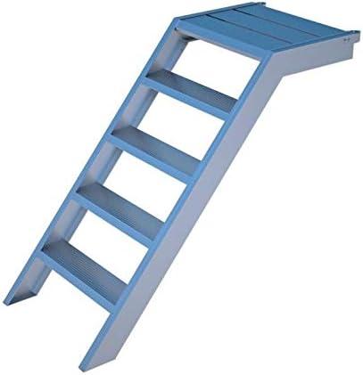 Escalera de aluminio para 1 m de altura, 58 cm de ancho, jardín, piscina, acceso a edificios: Amazon.es: Hogar
