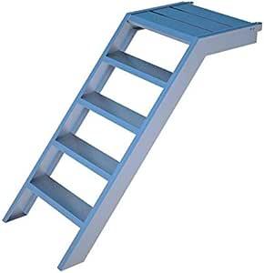 Escalera de pedestal de aluminio para 1 m de altura, 58 cm de ancho, para jardín, piscina, acceso a edificios: Amazon.es: Hogar