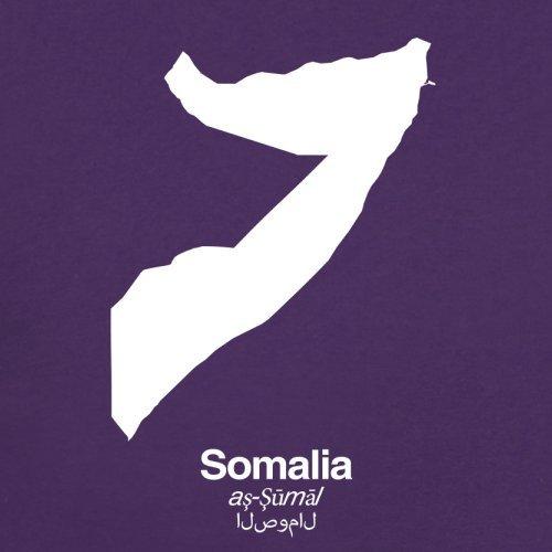 Somalia / Bundesrepublik Somalia Silhouette - Herren T-Shirt - Lila - S