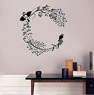 Teayz Vinyl Wall Art Inspirational Quotes and Saying Home Decor Decal Sticker Branch Birds Patterns Room Home