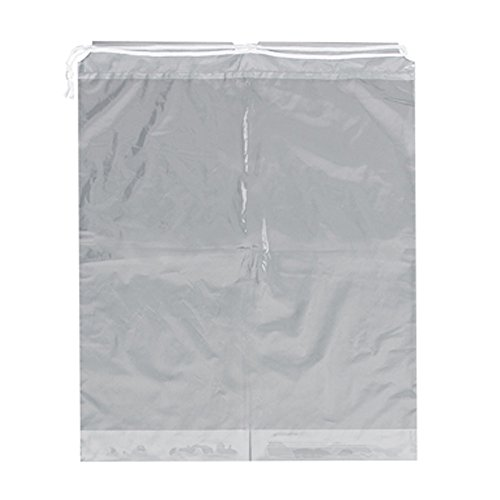 Action Health 40-02-0015 Drawstring Patient Belonging Bags, Clear, 20W x 24H x 4D (Pack of 250)