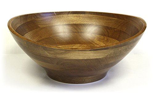 (Mountain Woods CSAE Bowl, Artisan Crafted Hardwood Ellipse Wavy Rim, 15 x 15 x)