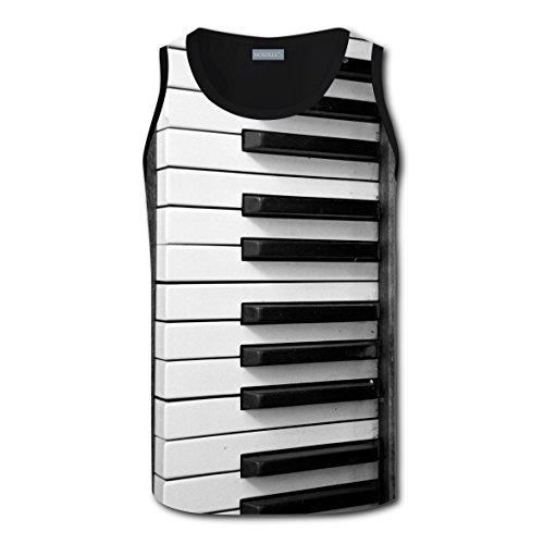 Keyboard Cat Costume (Men Tank Top Custom Upright Piano Keyboard Key Singlet Plus Zise Tops XXL)