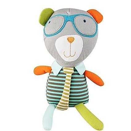 jjovce gafas oso saco de dormir comodidad muñeca de peluche sonajero de peluche Animal sonido (
