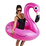 BigMouth BMPF-PF Pink Flamingo Pool Float, Inflates to Over 4-Feet Wide