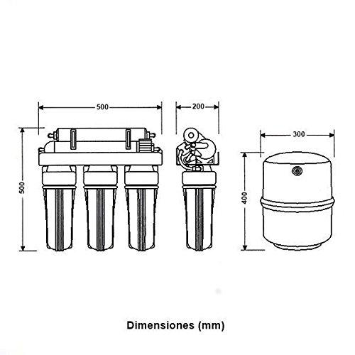 ATH /ósmosis inversa dom/éstica 5 etapas con bomba Genius 4-75 PUMP 304043