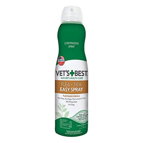 Vet's Best Flea and Tick Easy Spray | Flea Treatment for Home | Flea Killer with Certified Natural Oils | 6.3 Ounces