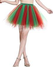 BeryLove Women's Vintage 1950s Tutu Petticoat Birthday Party Costume Dance Skirt