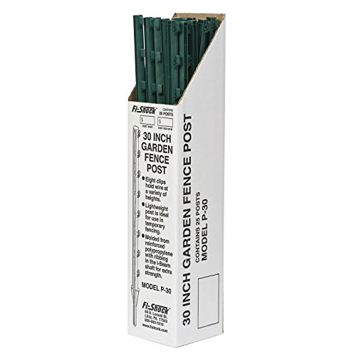 Fi-Shock P-30G Green Garden Post for Fence (25 Pack), ()