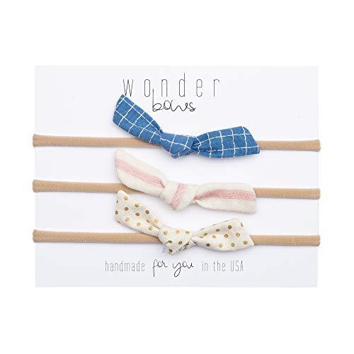 Handmade Newborn Hair Bows Set For Baby Girls - Nylon (One Size Fits All) (Greta) ()