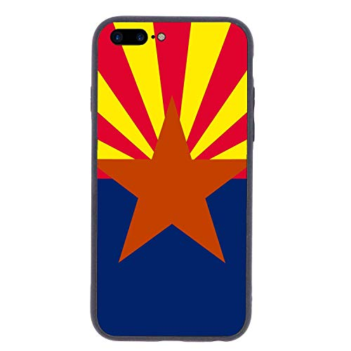 CHUFZSD Arizona State Flag iPhone 7/8 Plus Case Soft Flexible TPU Anti Scratch Shock-Proof Protective Shell Compatible Phone Case Cover (5.5 -
