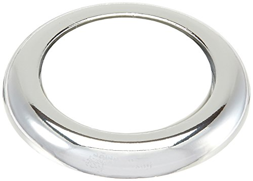 Rohl C7672PBAPC Country Kitchen & Country Bath Pressure Fit Screw Cover Cap Complete withx Outer Ring & Blank White Porcelain Insert, Satin Nickel by Rohl