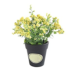 qiguch66 Artificial Flower for Decoration, 1Pc Potted Artificial Flower Berry Bonsai DIY Stage Garden Wedding Party Decor - Yellow 98