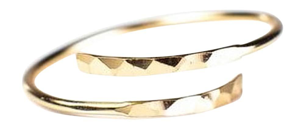 Blush and Bar Minimalist Thumb Ring (Gold)