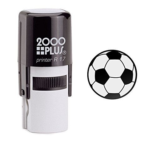 Ball Stamp (Soccer Ball Self Inking Rubber Stamp - Black Ink (A-6014))