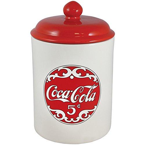 Coke Ceramic Cookie Jar Retro Coca Cola Logo Graphics Stores Treats   Snacks