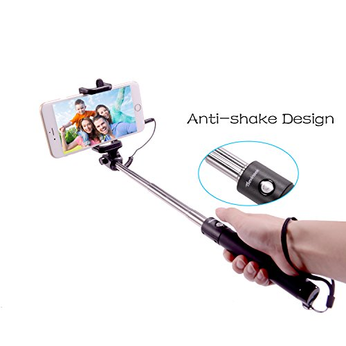 tsevinsek selfie stick extendable self portrait monopod for apple iphone and android smartphones. Black Bedroom Furniture Sets. Home Design Ideas