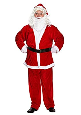 Christmas Costume Velvet Santa Claus Costume Suit For Adult Men Party Cosplay