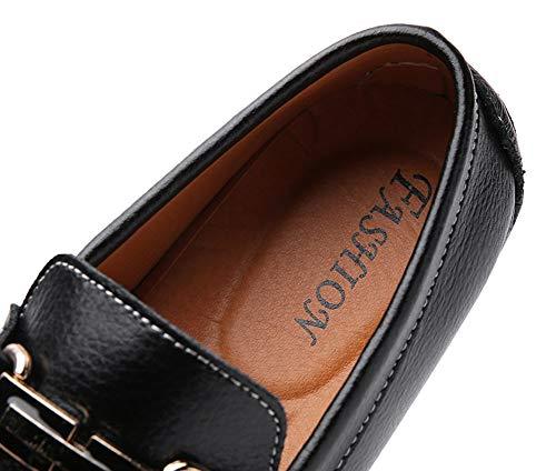 Flats Mocassins Noir1 Bateau Ville Chaussures Penny Casual De Icegrey Homme AnxqfWwv4