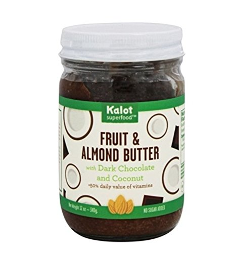 Kalot Superfood Fruit & Almond Butter with Dark Chocolate and Coconut 12 Oz | Pack of 1
