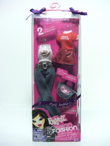 Bratz Passion 4 Fashion - Bratz Passion 4 Fashion Rock Angels Frashion Pack, 2 Complete Outifts