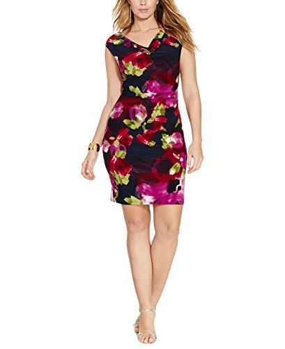 Print Cowl Neck Dress - 3