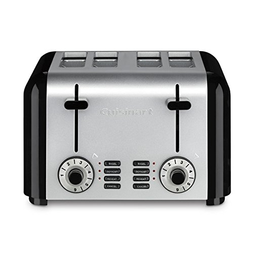 Cuisinart CPT-240TNFR Elements 4 Slice Toaster, Black refurbished