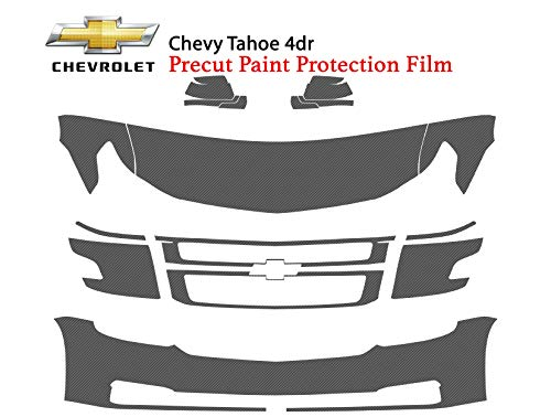 (The Online Liquidator Precut Clear Bra Paint Protection Film Kit fits Chevrolet Tahoe 4dr 2015-2018 - Premium Full Front Vinyl Wrap Surface Safeguard Cover)