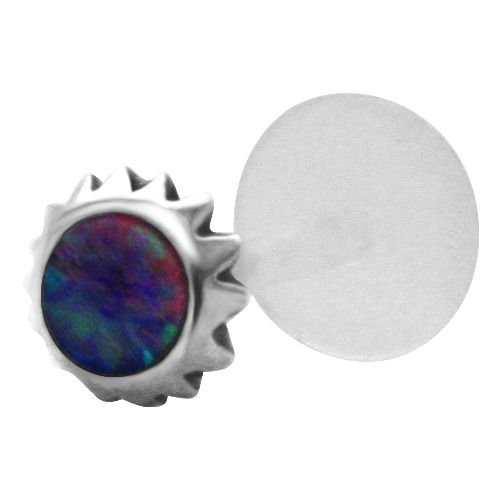 Cabochon Tribal Sun 925 Sterling Silver  - Black Cabochon Barbell Shopping Results