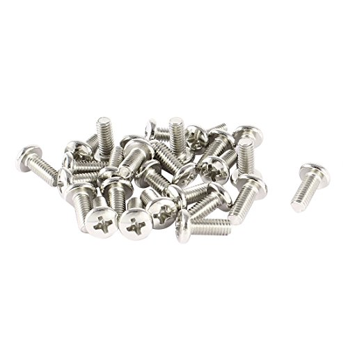 uxcell 30 Pcs VESA TV LCD Monitor Mounting Philips Head Screws M4 x 10mm