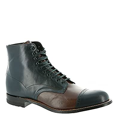 Stacy Adams Mens Madison Cap Toe Boot (00015), Navy Multi, 7 D (00015-492)