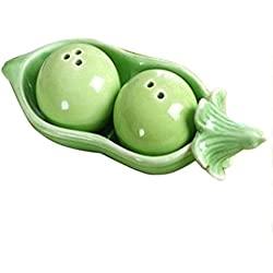 "Gleader""Two Peas In A Pot"" Ceramic Salt and Pepper Shakers Wedding Party Bag Fillers Gift Set"
