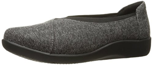Removable Footbed (Clarks Women's Sillian Holly Flat, Grey Tweed, 8.5 M US)