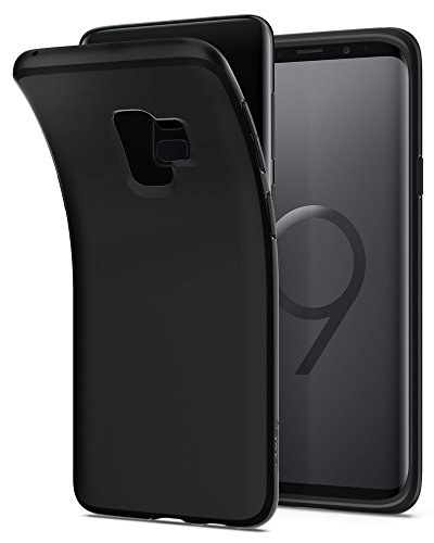 Spigen Liquid Crystal Galaxy S9 Case with Light but Durable Flexible TPU Protection for Samsung Galaxy S9 (2018) - Matte Black