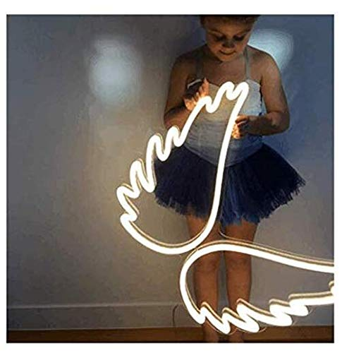Angel Wing Lamp Neon Light Sign Wall Neon Light, LED Indoor Decor Night Lamps, Neon Light Sign Wedding Birthday Party Bedroom Table Gift Kids Toys Decor Decorations Valentines Christmas - Neon Wings