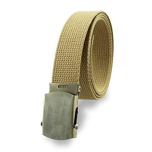 Cotton Military Web Belt MADE IN USA (Khaki)