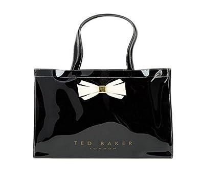 60712b932370c Ted Baker Large Rectangular Plain Bow Icon Bag  DRACON  Black