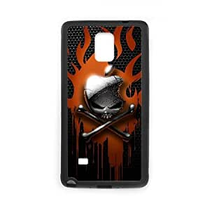 Mac Apple Skull Logo Funda Samsung Galaxy Note 4 Funda caja del teléfono celular Negro P6V5SV Cases For Phones
