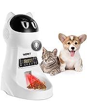 WOPET Futterautomat Katze/Hund Automatisch Futterspender mit Zeitsteuerung Portion-Kontrolle Ton-Rekorder und bis zu 4 Mahlzeiten und Futternapf aus Edelstahl