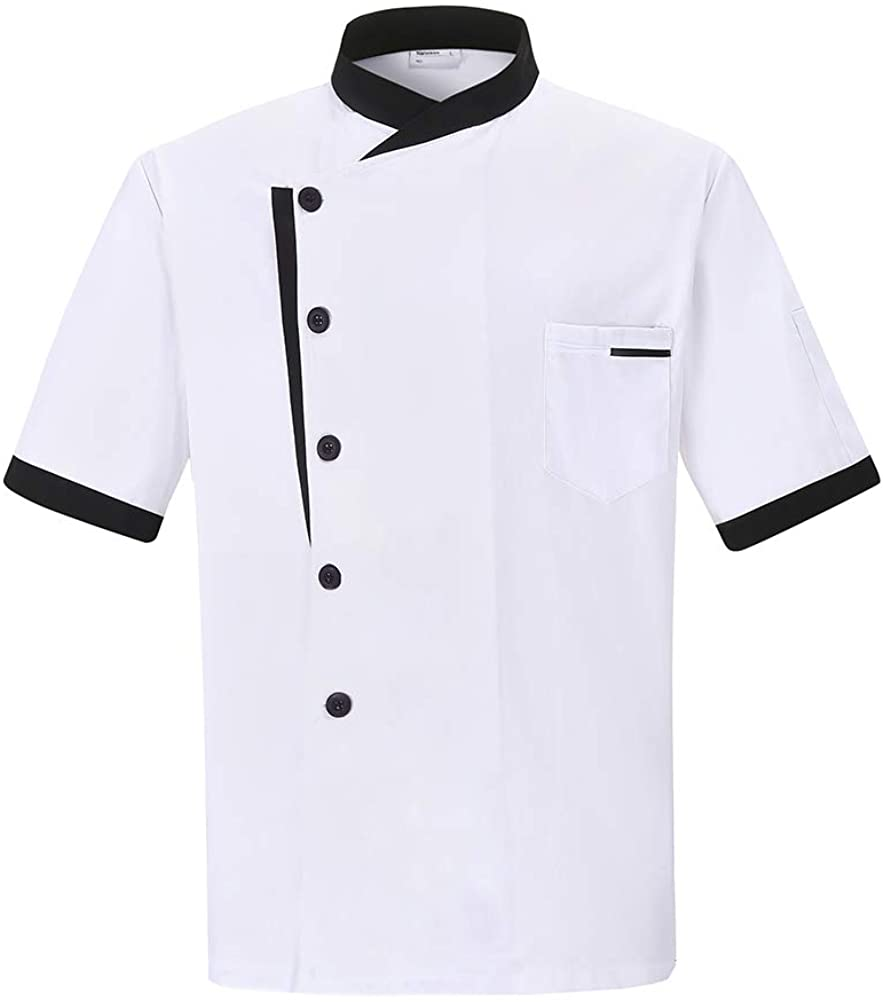 Nanxson Unisex Chef Jacket Men's Chef Coat Restaurant Kitchen Chef Uniform CFM0016