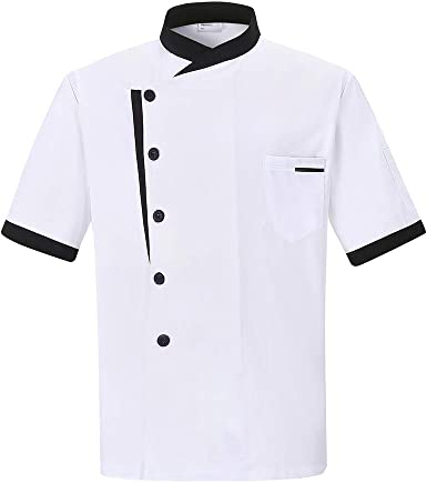 Nanxson Chaqueta de Chef Unisex Hotel/Cocina Manga Larga Ropa de Trabajo Uniforme Chef Coat Blanco CFM0016: Amazon.es: Ropa y accesorios