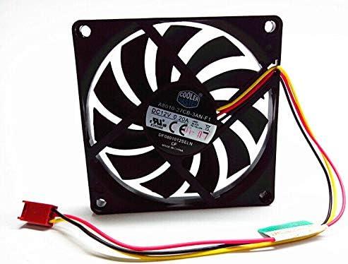 Zyvpee 80x80x10mm A8010-27CB-3AN-F1 DF0801012SELN 8cm 12V 0.2A 3Wire Cooling Fan